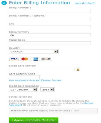 Enter Your Billing Information