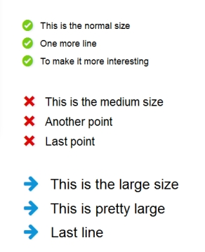 Improve the look of bullet points