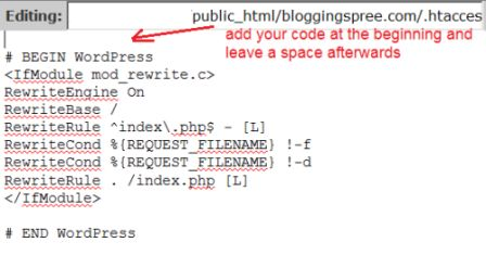 htaccess file instructions