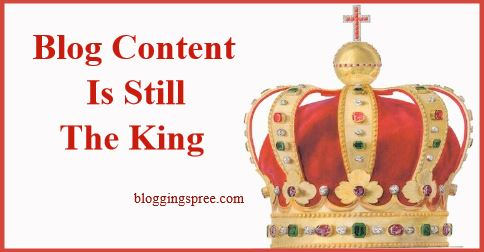 blog content is king