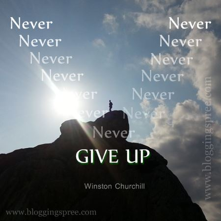 Never give up blog post example