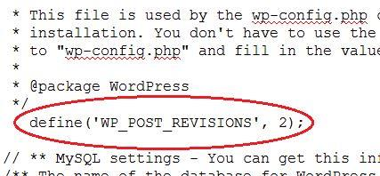 Code to reduce number of post revisions