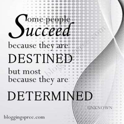 Determination Paves The Path To Success