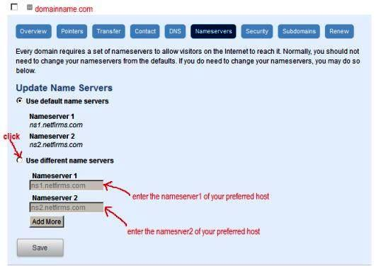 netfirms nameservers