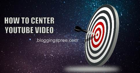 center youtube video