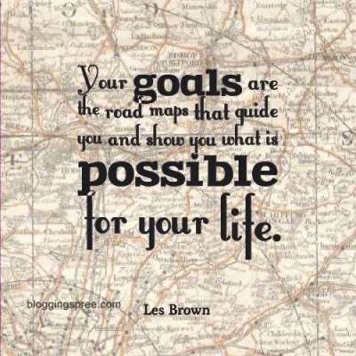 goal setting quote by Les Brown