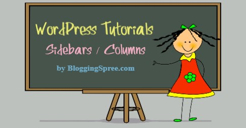 WordPress sidebar tutorial