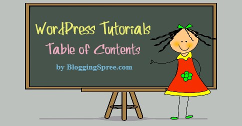 WordPress tutorial contents