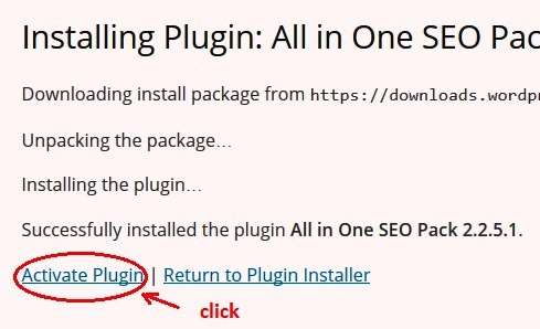 activate installed plugins