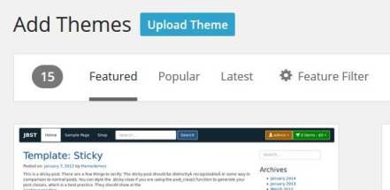 finding new theme