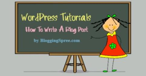 how to write a blog post tutorial