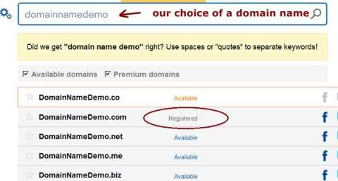 searching for domain names