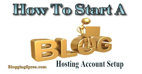 web hosting account setup